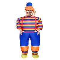 aufblasbare clowns großhandel-Weihnachtskarneval Erwachsene Anime Aufblasbare Clown Kostüm Maskottchen Kostüm Anzug Fan Kostüme Party Halloween Weihnachtsgeschenk LJ-025
