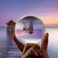 glass ball lens großhandel-Kristallglas Objektiv Ball Fotografie zum Verkauf 8 cm Feng Shui Fashiongift Wohnkultur Kugel Magic Healing Globe Balls