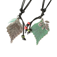 Wholesale bijoux women for sale - Statement Necklaces pendants Jewelry Women Long Necklace Chokeres Collares Mujer Sweater Kolye Bijoux Femme Green Leaf Necklace