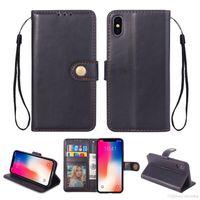 flip flip achat en gros de-détail Mode En Cuir Flip Portefeuille Carte Stand Case Couverture Téléphone cas Coverskins Pour Samsung pour iphone en gros prix