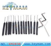 ingrosso maniglie di serratura per porte-Goso Dimple 14 Pin Lock Lock lock Set strumento apri del portello Strumenti del fabbro con manico rotondo