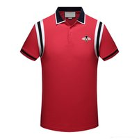 Wholesale young wind - aa Summer New Embroidered Bee Polo Shirt Male Short Sleeve Lapel Tide Brand Slim Young Port Wind Polo T-shirt M-3XL
