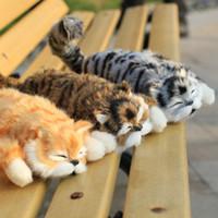 забавные чучела животных оптовых-28 см смешные моделирования кошка плюшевые игрушки ролл смеяться чучела кошки куклы качели тела животных электрическая музыка игрушки дети подарок на День Рождения