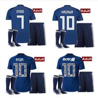 Wholesale soccer jersey number kit for sale - Group buy World Cup Japan soccer jersey ATOM CARTOON NUMBER Japan Tsubasa KAGAWA OKAZAKI NAGATOMO KAMAMOTO Football man kit Shirt