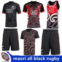tamaño rojo de los jerseys al por mayor-2018/2019 Maori All Blacks Jersey 2018 NUEVO MAORI ALL BLACKS RED GRAPHIC T SHIRT 17 18 Maori All Blacks Camiseta de rugby tamaño S-3XL