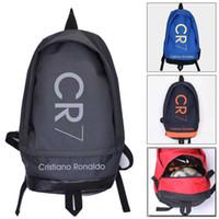 meninos mochilas escolares de lona venda por atacado-Nova Moda Cristiano Ronaldo Mochila de Lona Das Mulheres Dos Homens de Grande Capacidade Computador Mochila CR7 Mochila de Viagem Menino Menina Saco de Escola