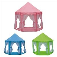 Wholesale fairy princess toys resale online - INS Children Portable Toy Tents Princess Castle Play Game Tent Activity Fairy House Fun Indoor Outdoor Sport Playhouse Toy Kids Gifts