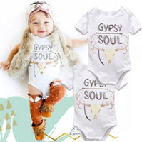 Wholesale girls sleepwear hot - fashion Infant toddler baby boys girls lovely bodysuits outfit one piece avaialble newborn rompers costume hot selling sleepwear jumpsuits B