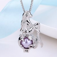 Wholesale pearls for sale - Group buy Mermaid Necklace Imitation Pearl Cage Pendant Necklace Beautiful Women Female Jewelry collier Party Jewelry Gifts Choker Pendant Necklace