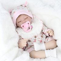 Wholesale lifelike dolls china - 17 Inch 45 CM Kids Playmate Silicone Reborn Baby Dolls Cloth Body Lifelike Soft Silicone Reborn Fashion Doll For Girs Children's Toys
