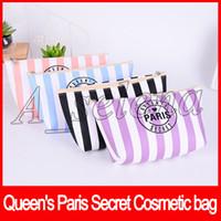 ingrosso cosmetici della regina-Secret Cosmetic bags Women Cosmetic Bags Potable Zipper Queen's Paris Secret Makeup Bags Borsa 4 colori rosa