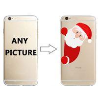 ingrosso nero chiaro hard iphone-Custodia personalizzata per iPhone 6S 6S Plus Hard PC Custodia trasparente nera con logo stampato per Samsung Note 8 S9 S9 Plus