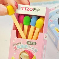Wholesale promotional toys for sale - Group buy Kawaii School Supplies Children Eraser Set Cute Creative Stationery Matches Rubber Eraser Correction Supplies Child Toy Gift