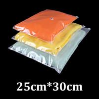 pe sacs en plastique zip lock achat en gros de-25x30cm 0.16mm surface unique PE en plastique dépoli refermable curseur verrouillage zip vêtements sac