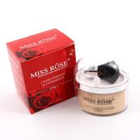 свободные порошковые палитры теней для век оптовых-Miss Rose Highlighter  2 In 1 Single Color Loose  & Eyeshadow Glitter Gold Silver Eye Shadow Palette Make Up Kit