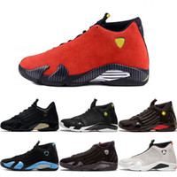 Wholesale cool skateboarding shoes - 14 Basketball Shoes 14S Mens Thunder Countdown Pack Last Shot Red White Desert Sand DMP Black Cool Grey Trainers Sport Shoes Sneakers