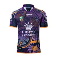 Wholesale australian shirt for sale - NRL Australian Rules football Melbourne Commemorative Football Jersey high quality Jersey Rugby Shirts Size S XXXL