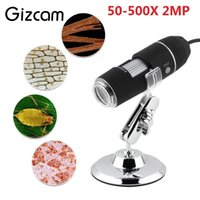 Wholesale portable digital microscopes for sale - Group buy Gizcam Portable X MP USB Digital Microscope LED Light Microscope Endoscope Video Mini Micro Camera Magnifier w Stand