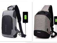 naylon çanta omuz askısı toptan satış-Erkekler için Crossbody Çanta Messenger Göğüs Çanta Paketi Rahat Çanta Su Geçirmez Naylon Tek Omuz Askısı Paketi 2017 Yeni Moda