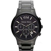 relógio digital preto dos homens venda por atacado-2017 Moda Mens Clássico Chronograph Gunmetal Ion Aço Preto dos homens Assista AR2453 2453 ar2460 ar2461 + caixa original