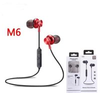 Wholesale headphones wireless dhl free shipping for sale - Group buy M6 Bluetooth Headphones V4 Wireless Earphone Noise Cancelling with Mic for Calling S8 Free DHL Shipping