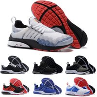 Wholesale port leather - 2018 Running Shoes PRESTO BR QS Breathe Yellow Black White Mens Women ports Shoe Sneakers Walking designer shoes Size 36-46