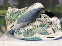 Wholesale design basketball shoes men sports online - 2018 New Wings Man Basketball Shoes Multi Color Authentic Sneakers Sports With Original Box AV2405 Glow In The Dark Brand Design
