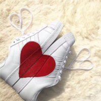 Wholesale Womens Fashion Plastic Shoes - Mens Womens Fashion Casual Shoes Love White Female Shoe Girl Flat Leather Sports Leisure Lovers Shell Head Plate Sneakers