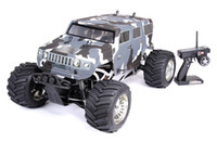 Wholesale Gas Engine Rc Airplane - Wholesale-1:5 rc car Baja Hummer Truck BM275 4WD Powerfull engine Big monster 4WD truck