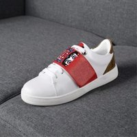 Wholesale cool shoe brands - 2018 the High-quality white casual shoes women brands white shoes leatherLV youth sport hook loop snaker shoes cool