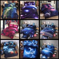 Wholesale 3d bedding set online - 10 Styles D Nebula Bedding Sets Starry Sky Quilt Cover Classical Luxury Sheet Home Textile Bedding sets CCA10195