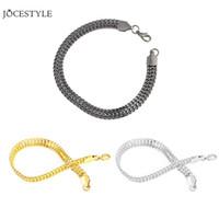 Wholesale geometric bracelets for sale - Hip Hop Stainless Steel Bracelet for Unisex Women Men Hand Hollowed Geometric Chain Charm Bracelet Gift