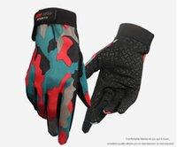 bicicletas venda por atacado-Luvas de camuflagem equitação para homens e mulheres touch screen tudo se refere a esportes ao ar livre skid mountain bike luvas