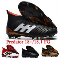 Wholesale Cheap Mens Soccer Cleats - [With Bag] Predator 18+ 18.1 FG Soccer Cleats Chaussures De Football Boots Mens High Top Soccer Shoes Predator 18 Cheap New Hot
