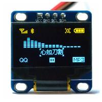módulos arduino i2c al por mayor-0.96 pulgadas I2C IIC Módulo Oled amarillo-azul 12864 /3.3V-5V para Arduino 51 MSP420 STIM32 SCR (HTDS-DI96N)