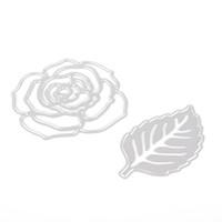 Wholesale stamp die resale online - Rose Leaves Metal Cutting Dies Cut Cutter Crapbooking And Stamping Arts Crafts Stencils Paper Shaper Cutter Die