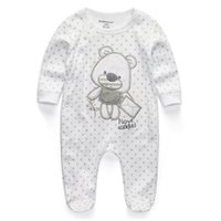 Wholesale jumpsuits for infants - 2018 New Baby Clothing Newborn Rompers Body Suits Full Sleeve Cotton Jumpsuits Infant Baby Romper Clothes Sleepsuits For Boy Girl