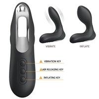 aufblasbare männer frauen großhandel-High End USB wiederaufladbare 12 Modus Anal Vibrator aufblasbare Anal Spielzeug Prostata Massagegerät Butt Plug Sexspielzeug für Männer und Frauen