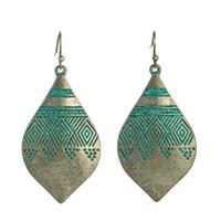 Piccola goccia d/'oro vintage Dangle Dichiarazione Orecchini Tassel etnico Tribale Boho
