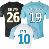Wholesale 2018 Olympique De Marseille soccer jersey OM Marseille maillot de foot PAYET PAYET GOMIS THAUVIN football shirt Adults