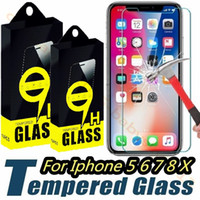 Wholesale iphone 5.5 screen protector anti glare for sale - Group buy Tempered Glass For iphone Plus X XR XS Max Screen Protector film for samsung galaxy s6 s7 s8 s9 htc smart phone with box