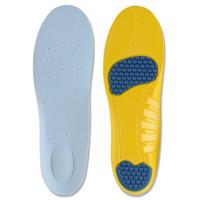 insertos de zapatos para correr al por mayor-Zapato de silicona Gel Pad Heel Feet Inserte la plantilla Cómodo amortiguador Anti-Vibration Soft para Trainning Sports Plantilla Run Pad KKA2644