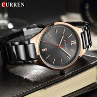 вахта mens нержавеющей стали curren оптовых-CURREN Top  Mens Watch Male Clock Stainless Steel Sports Watches Men Quartz Casual Wristwatch Relogio Masculino
