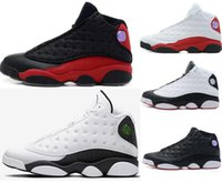 Wholesale cat stars - wholesale 2018 Quality New 13 13s Black Cat 3M Reflect Men Women Basketball Shoes 13s Flint Bred Olive Gym Red Sneakers