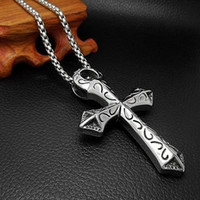 la conexión en cruz al por mayor-Hip hop old school última moda cruz colgante collar de plata, montaje para DIY deseo collar mujer hombre joyas S18101607