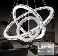 Wholesale pendants lights resale online - Modern LED Crystal Chandelier Lights Lamp For Living Room Cristal Lustre Chandeliers Lighting Pendant Hanging Ceiling Fixtures