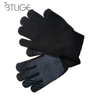 Wholesale knit thick wool mittens resale online - Women Soft Warm Winter Knitted Full Finger Gloves Mittens Girl Female Woolen Gloves Screen Mittens Wool Knitting Solid Thick