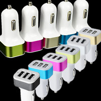 Wholesale triple socket car charger online - Universal Triple USB Car Charger Adapter USB Socket Port Car charger For iPhone X Samsung Free DHL