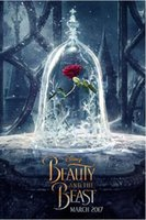 Wholesale beauty beast painting for sale - Group buy beauty and beast rose flower Wall Decoration Poster Painting HD Canvas Living room home wall decoration fabric poster
