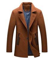 en güzel kürkler toptan satış-Adam han baskı Avrupa'da uzun kış ve yeni iş ince sıcak kürk ceket 271 / M-4XL ahlak yetiştirmek
